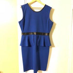 The Limited GUC Royal Blue Peplum Dress Size 14